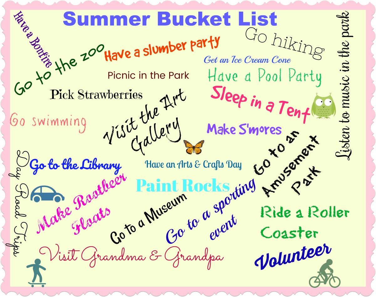 Boredom Busters: Creating a Summer BucketList