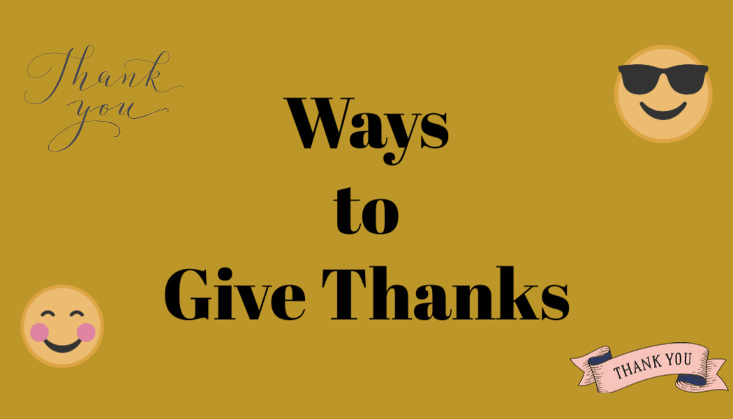 Ways to Give Thanks