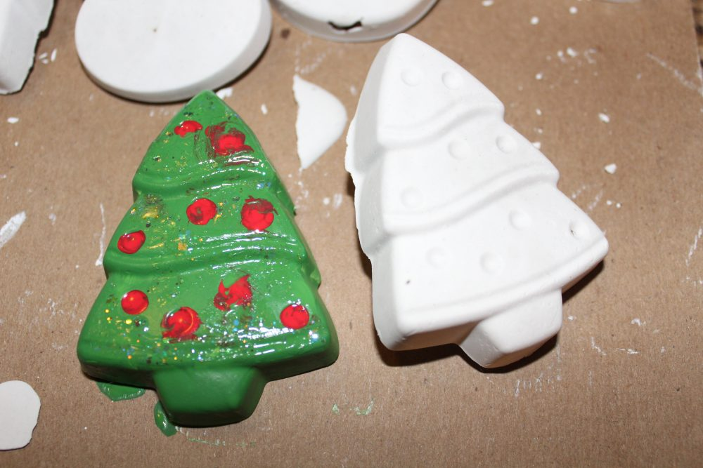 Christmas Fun: Making Plaster Ornaments