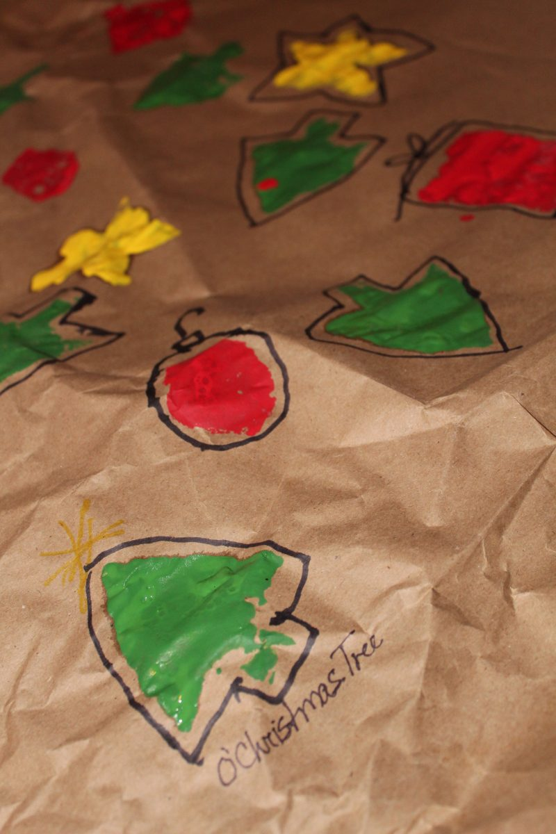 Handmade Christmas Wrapping Paper Craft