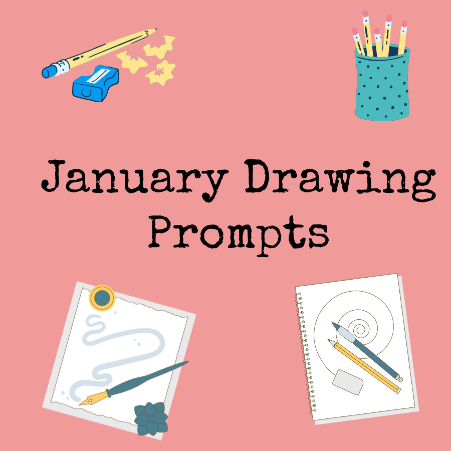 January Drawing Prompts