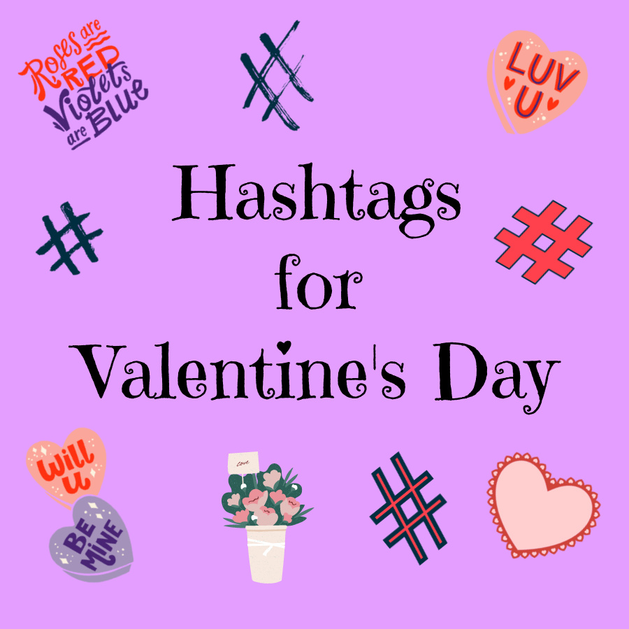 Hashtags for Valentine's Day