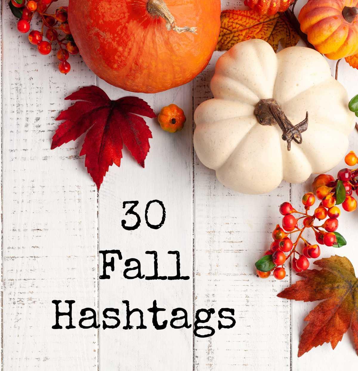 30 Fall Hashtags